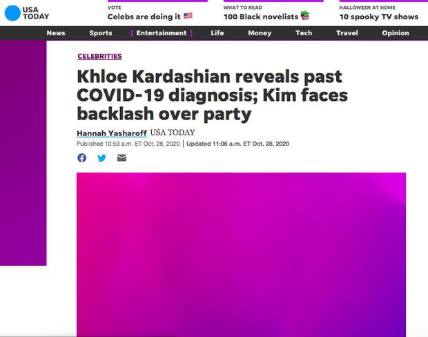 NÓNG: Khloe Kardashian xác nhận nhiễm COVID-19 giữa lúc Kim và gia đình bị chỉ trích vì tiệc tùng giữa mùa dịch - Ảnh 9.