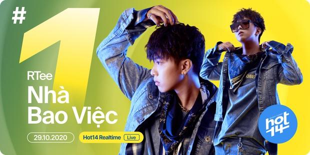 Ca khúc của R.Tee tại Rap Việt xuất sắc leo thẳng lên top 1 realtime BXH HOT14, cạnh tranh trực tiếp với ngôi vương liên tiếp 5 tuần của Jack - Ảnh 3.