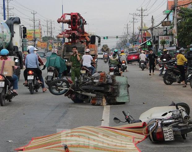 Tai nạn liên hoàn trên quốc lộ 13 làm 1 người tử vong tại chỗ - Ảnh 2.