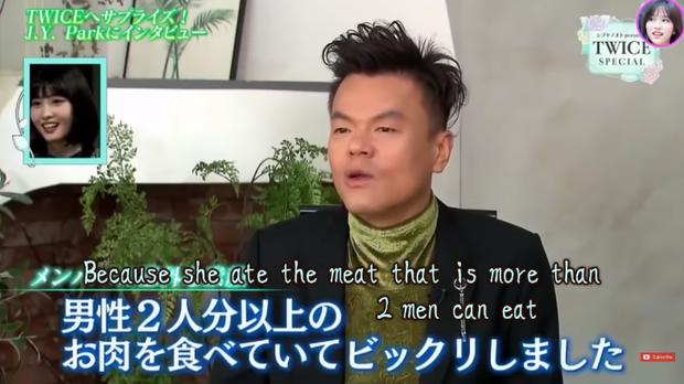 JYP tiết lộ sự thật gây sốc về Momo (TWICE): sức ăn còn hơn cả hai người đàn ông, đến chủ quán cũng kinh ngạc - Ảnh 3.