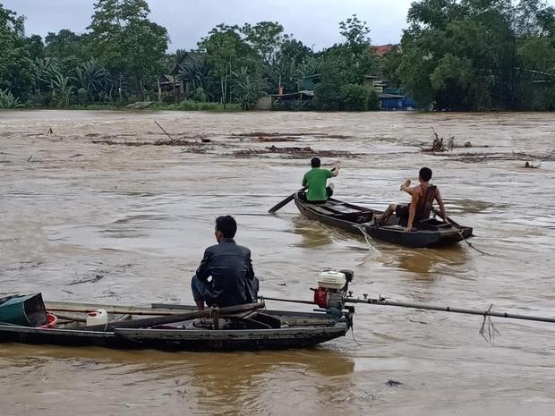 Người dân Hà Tĩnh liều mình vớt củi bất chấp nước sông dâng cao - Ảnh 4.
