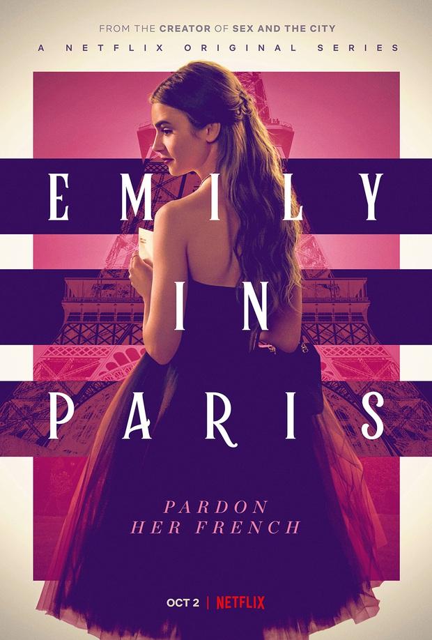 Emily Ở Paris: Cốt truyện âm hưởng Sex and The City khó cảm, may thay có Lily Collins visual hút mắt điên đảo cân lại - Ảnh 1.