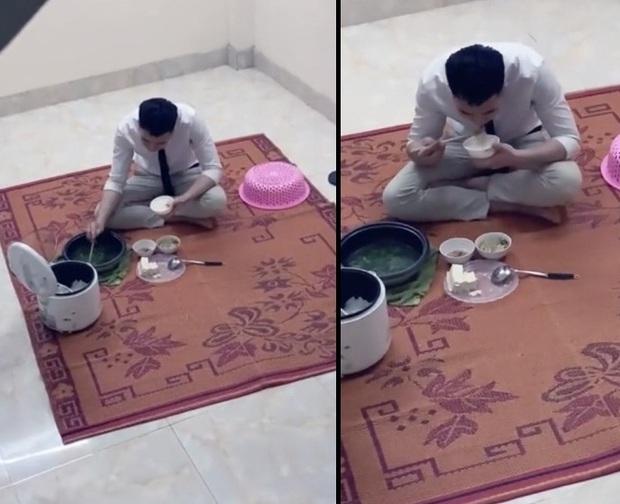 Anh trai đi làm hơn 10h tối ngồi lủi thủi ăn một mình, chỉ dám bước rón rén sợ em thức giấc - Ảnh 2.