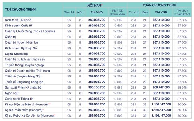 Học phí các trường đại học hàng top: Cao nhất là VinUni, RMIT với hơn tỷ/năm - Ảnh 4.