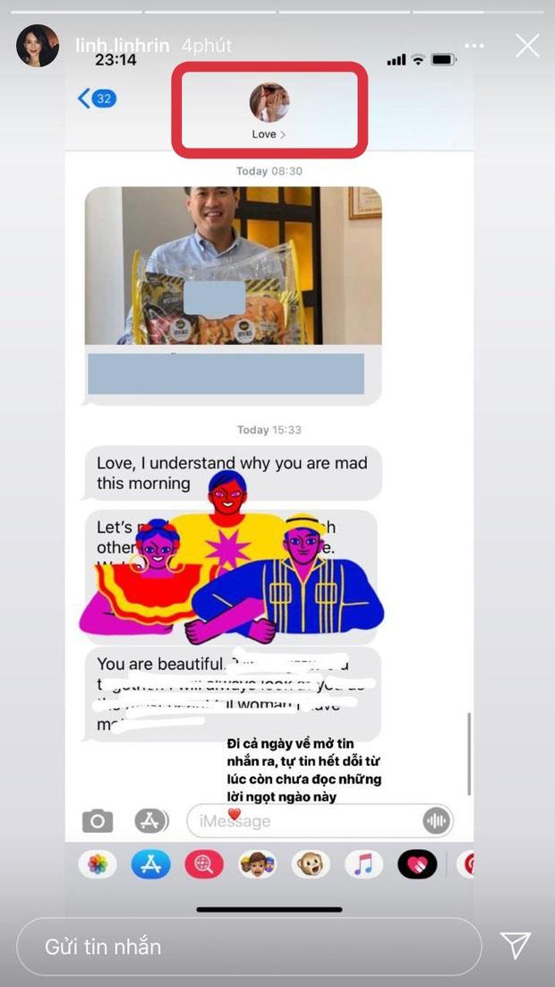 Linh Rin tung tin nhắn được Phillip Nguyễn dỗ ngọt khi giận hờn, vô tình lộ tên đặc biệt cho bạn trai đại gia trong danh bạ - Ảnh 2.