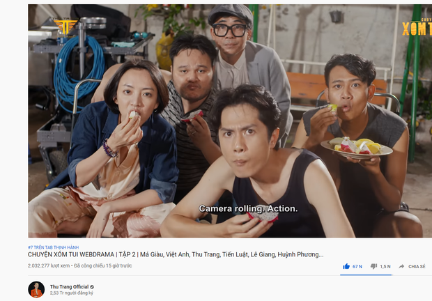 Phim mới của Thu Trang càn quét top thịnh hành với lượt view chóng mặt, vào xem chị dối chồng ăn cắp vặt nè mấy em!