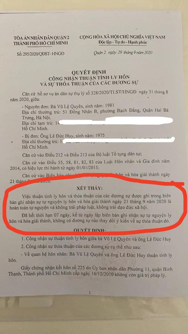 Lệ Quyên chính thức xác nhận đã ly hôn đại gia sau 10 năm: Chúng tôi thuận tình, tự nguyện, không vi phạm đạo đức - Ảnh 3.