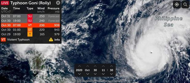 Bão Goni khả năng tăng cấp thành siêu bão trước khi đổ bộ Philippines, sẽ đi vào Biển Đông trong đêm 1/11 - Ảnh 1.