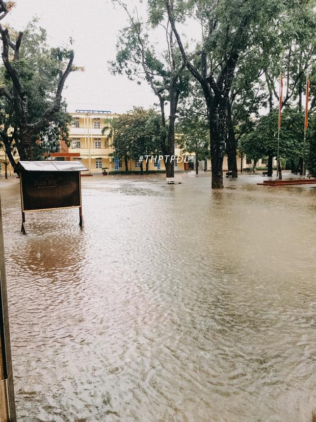 Mưa lớn nhiều ngày biến trường học Nghệ An thành bể bơi, có chỗ ngập sâu cả mét - Ảnh 3.