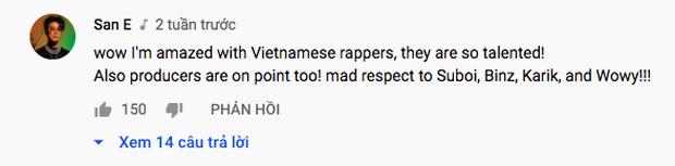 Rapper San E - producer Show Me The Money bình luận dưới tập 1 Rap Việt, dành sự tôn trọng đến dàn HLV và khen rapper Việt Nam quá tài năng! - Ảnh 2.