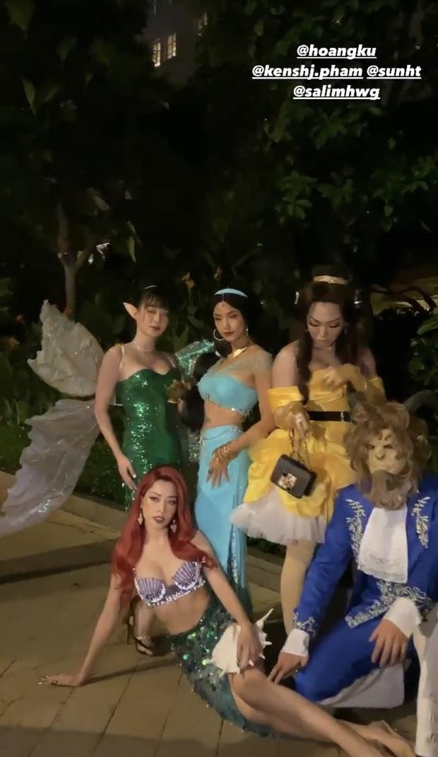 Quỳnh Anh Shyn đăng ảnh hoá trang Halloween một mình, trong khi Salim nhập hội Chi Pu và Sunht - Ảnh 3.