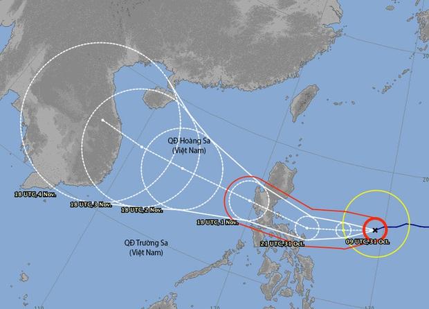 Siêu bão Goni giật trên cấp 17 đang vào Biển Đông - Ảnh 2.