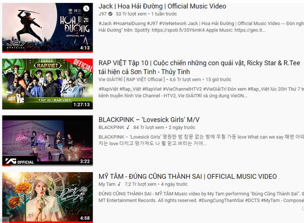BLACKPINK hẹp cửa lên top 1 trending Việt Nam khi bị Jack và Rap Việt chặn đứng, cô trò Mỹ Tâm - Đức Phúc bám đuổi ngay sát nút - Ảnh 1.
