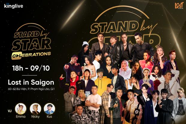 Stand By Star công bố line-up đông khủng với gần 30 nghệ sĩ, liệu dàn thí sinh Rap Việt và King Of Rap sẽ có màn battle? - Ảnh 1.