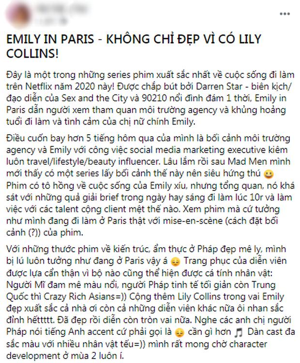 Fan Việt phát sốt cuối tuần với Emily Ở Paris: Lily Collins xinh đáo để giữa lòng nước Pháp, nội dung lại là điểm trừ lớn nhất? - Ảnh 4.