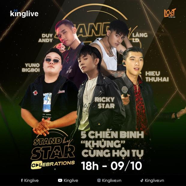 Stand By Star công bố line-up đông khủng với gần 30 nghệ sĩ, liệu dàn thí sinh Rap Việt và King Of Rap sẽ có màn battle? - Ảnh 2.