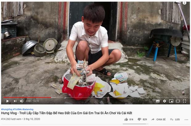 Con trai bà Tân tung clip phản cảm trộm tiền nuôi heo rồi bao em mình ăn, netizen bình luận: Bị phạt mà vẫn chưa chừa? - Ảnh 2.