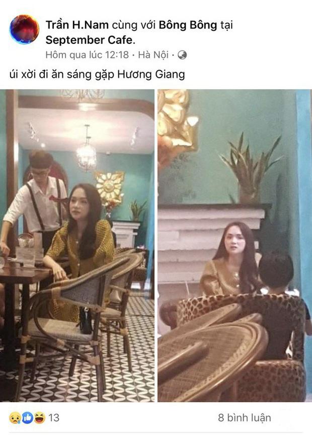 Hết quán ăn vỉa hè, cư dân mạng lại truy lùng được Hương Giang ở một quán cafe khác tại Hà Nội - Ảnh 1.
