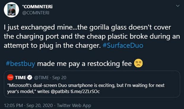 Người dùng kêu ca vì Microsoft Surface Duo dễ bị nứt xung quanh cổng USB-C - Ảnh 4.