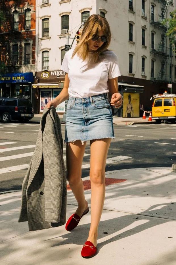 Hãy sắm 1 đôi giày đỏ: Style của bạn sẽ được nâng tầm sang chảnh như gái Pháp - Ảnh 6.