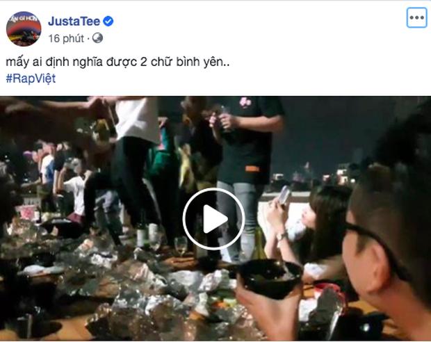 Trong lúc Rhymastic chứng kiến Karik say ướt người tại buổi quẩy tập thể của Rap Việt thì JustaTee tâm bất biến chỉ ăn là giỏi - Ảnh 3.