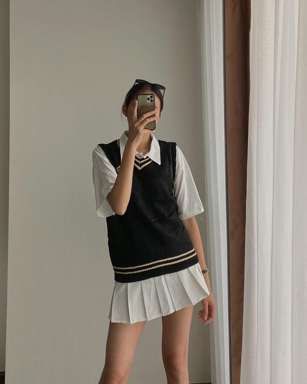 Hội celeb lẫn hot girl châu Á đều đang mặc áo gile len nhiệt liệt rồi, bạn mà chưa sắm là trễ trend đó nha - Ảnh 7.