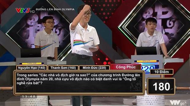Câu hỏi gây tranh cãi khiến cả 4 thí sinh Olympia bó tay: Cựu Quán quân nào được mệnh danh ông tổ nghề rửa bát? - Ảnh 1.