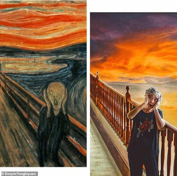Gây bão MXH với loạt ảnh cover lại các bức họa nổi tiếng, nhóm cụ ông cụ bà khiến giới trẻ cũng phải phục sát đất vì độ chất chơi - Ảnh 1.