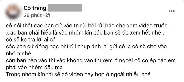 Tài khoản Facebook tự xưng cô giáo Trang kêu gọi gửi tiền để vào lớp học toàn clip khiêu dâm phản cảm: Có thể bị xử lý hình sự - Ảnh 3.