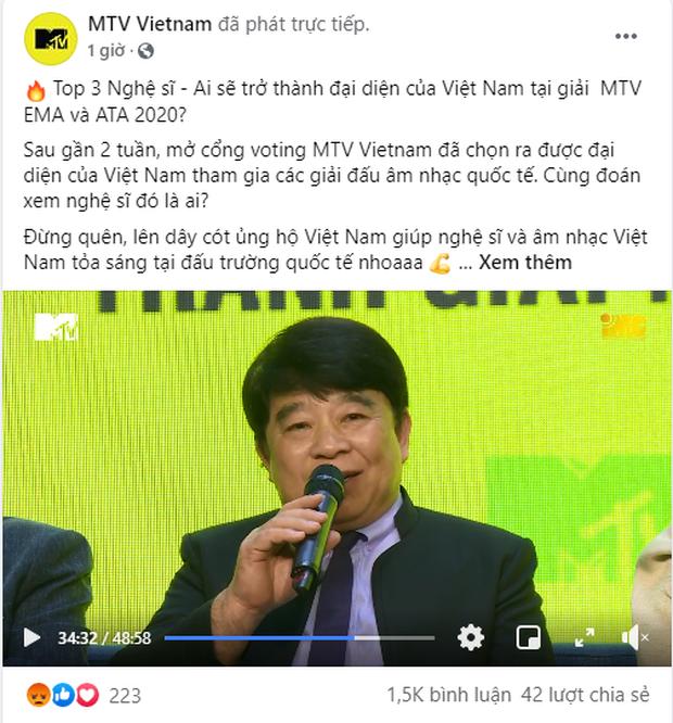 Binz bất ngờ được tuyên bố cùng Jack đại diện Việt Nam góp mặt vào đề cử ATA 2020, fan Jack bức xúc vì MTV Việt Nam nhập nhằng - Ảnh 3.