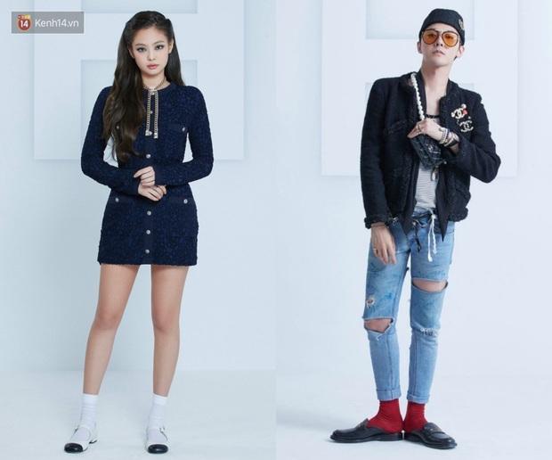 Jennie và G-Dragon lần đầu dự show Chanel cùng nhau: Mỹ nhân BLACKPINK có chút nhạt, ông hoàng Kpop vẫn chất như ngày nào - Ảnh 6.