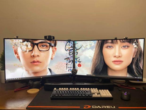 Jun Vũ khoe hình ảnh tình bể bình với Isaac, hé lộ luôn góc gaming gọn gàng, khẳng định chơi game không toxic - Ảnh 2.