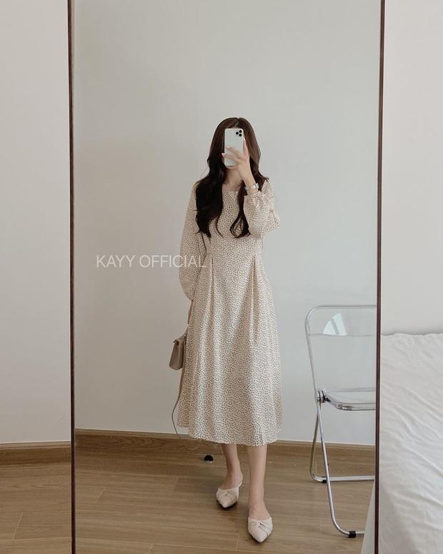 11 mẫu váy dài tay nền nã thích hợp cho ngày se lạnh, diện lên là chỉ có xinh lịm tim - Ảnh 5.