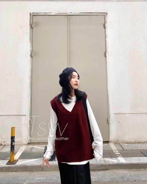 Hội celeb lẫn hot girl châu Á đều đang mặc áo gile len nhiệt liệt rồi, bạn mà chưa sắm là trễ trend đó nha - Ảnh 11.