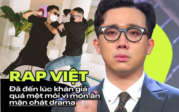 Những giọt nước mắt của Trấn Thành bị chỉ trích: Khán giả quá mệt mỏi vì drama và sướt mướt của Rap Việt? - Ảnh 1.