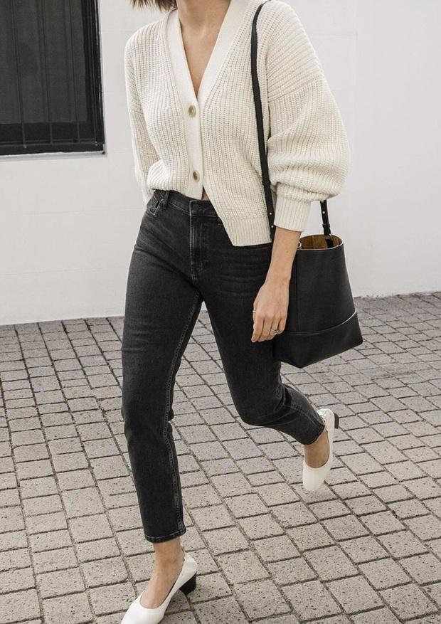 Để đẹp như gái Pháp, nàng công sở Việt hãy học theo 5 cách diện áo len mỏng đẹp đủ mọi đường - Ảnh 2.