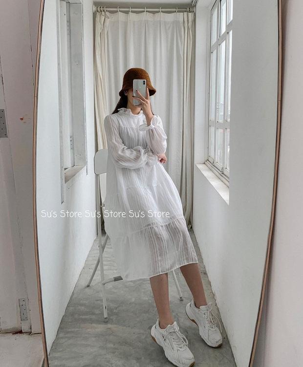 11 mẫu váy dài tay nền nã thích hợp cho ngày se lạnh, diện lên là chỉ có xinh lịm tim - Ảnh 11.