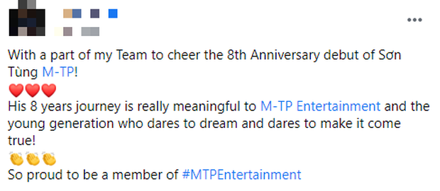 Sơn Tùng M-TP đăng ảnh kỉ niệm 8 năm debut hội tụ toàn cực phẩm trai đẹp của công ty, nhưng lại thiếu một người quan trọng? - Ảnh 2.