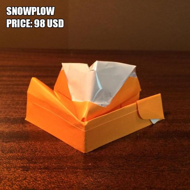 Anh chàng kiếm bộn tiền nhờ bán các kiệt tác origami phong cách cực lú lẫn - Ảnh 3.