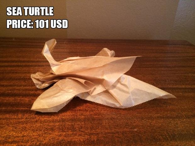 Anh chàng kiếm bộn tiền nhờ bán các kiệt tác origami phong cách cực lú lẫn - Ảnh 9.