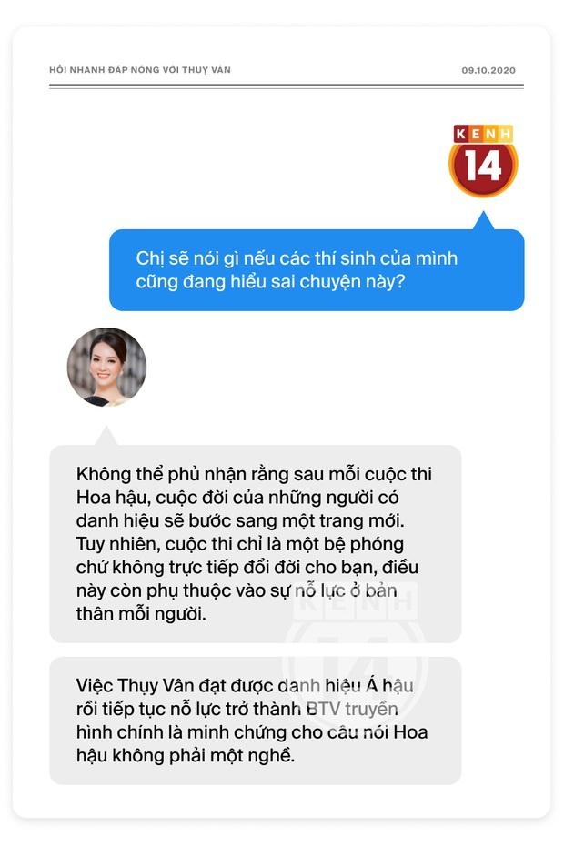 Phỏng vấn nóng Thuỵ Vân trước Bán kết HHVN: Hé lộ lý do 10 năm giữ kín diện mạo ông xã, khẳng định Hoa hậu không phải một nghề - Ảnh 9.