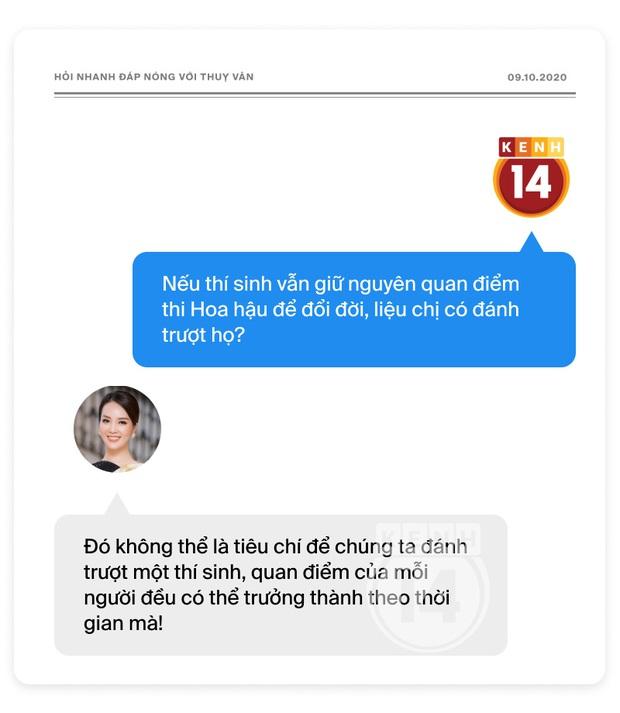 Phỏng vấn nóng Thuỵ Vân trước Bán kết HHVN: Hé lộ lý do 10 năm giữ kín diện mạo ông xã, khẳng định Hoa hậu không phải một nghề - Ảnh 10.