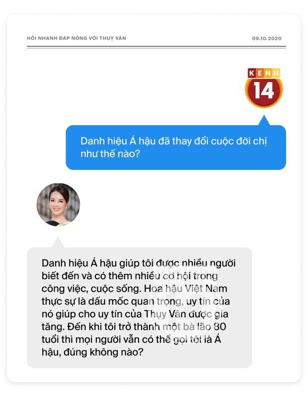 Phỏng vấn nóng Thuỵ Vân trước Bán kết HHVN: Hé lộ lý do 10 năm giữ kín diện mạo ông xã, khẳng định Hoa hậu không phải một nghề - Ảnh 11.