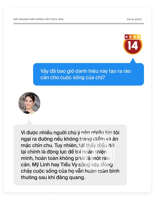 Phỏng vấn nóng Thuỵ Vân trước Bán kết HHVN: Hé lộ lý do 10 năm giữ kín diện mạo ông xã, khẳng định Hoa hậu không phải một nghề - Ảnh 12.