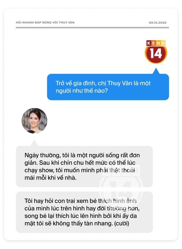 Phỏng vấn nóng Thuỵ Vân trước Bán kết HHVN: Hé lộ lý do 10 năm giữ kín diện mạo ông xã, khẳng định Hoa hậu không phải một nghề - Ảnh 13.