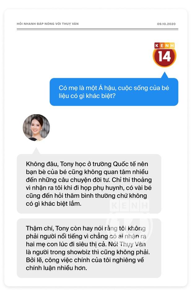 Phỏng vấn nóng Thuỵ Vân trước Bán kết HHVN: Hé lộ lý do 10 năm giữ kín diện mạo ông xã, khẳng định Hoa hậu không phải một nghề - Ảnh 15.