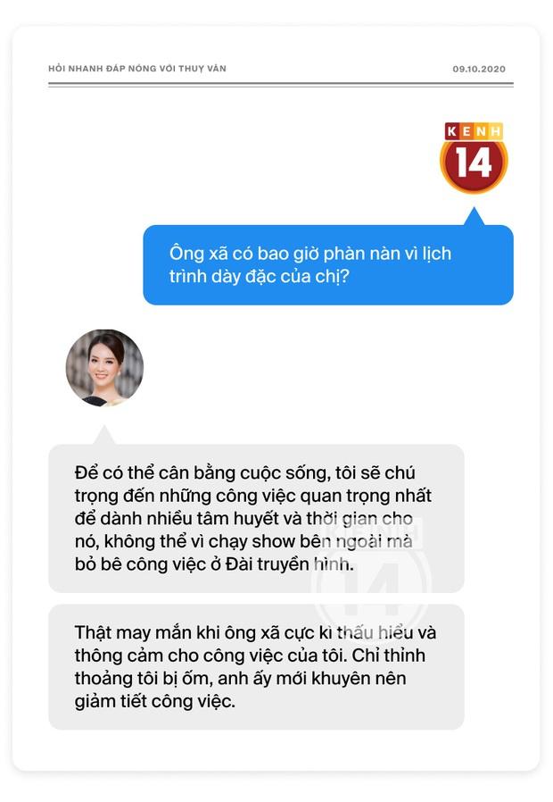 Phỏng vấn nóng Thuỵ Vân trước Bán kết HHVN: Hé lộ lý do 10 năm giữ kín diện mạo ông xã, khẳng định Hoa hậu không phải một nghề - Ảnh 19.
