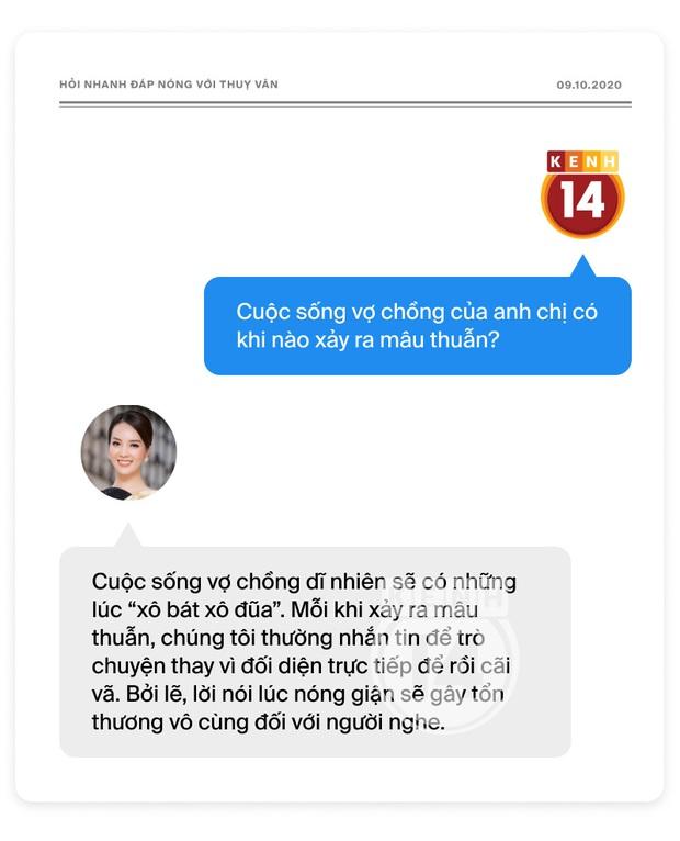 Phỏng vấn nóng Thuỵ Vân trước Bán kết HHVN: Hé lộ lý do 10 năm giữ kín diện mạo ông xã, khẳng định Hoa hậu không phải một nghề - Ảnh 21.