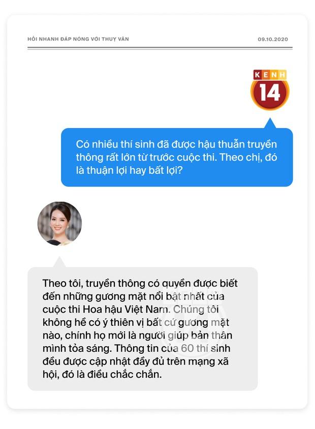 Phỏng vấn nóng Thuỵ Vân trước Bán kết HHVN: Hé lộ lý do 10 năm giữ kín diện mạo ông xã, khẳng định Hoa hậu không phải một nghề - Ảnh 5.