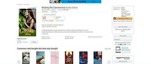 Truyện ngắn ngôn tình giữa nữ bác sĩ và virus Corona đẹp trai 6 múi cháy hàng trên Amazon - Ảnh 2.